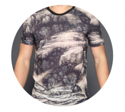 Отличная футболка в китайском стиле для жаркой погоды
