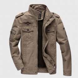 Хлопковая куртка в милитари стиле