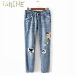 Модные рваные женские джинсы из Алиэкспресс