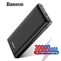 Повербанк Baseus BS-30KP303. Протоколы быстрой зарядки, 30000 мАч, 33 Вт