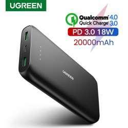 Повербанк Ugreen PB132 с протоколами быстрой зарядки и емкостью 20 000 mAh