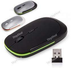 Ultra Thin 2.4GHz 1600dpi Wireless Cordless Optical Mouse Mice with Mini Hidden USB Receiver for PC Laptop CMS-11833