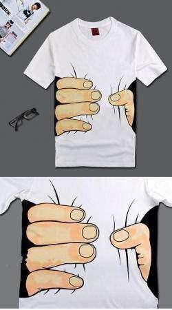 Дешевая футболка с оригинальным принтом