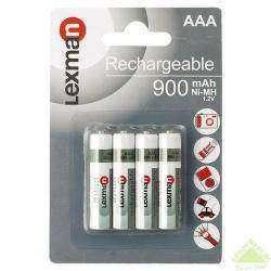 Аккумуляторы Lexman 900mah ААА/LR03 ni-mh