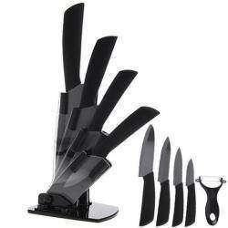 Обзор набора качественных керамических ножей с подставкой TimHome