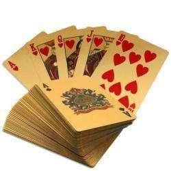 Золотая колода игральных карт (полная колода из 54 карт)