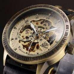 Механические мужские часы - скелетоны SHENHUA