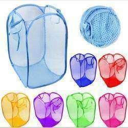 Компактная корзина для белья, также отлично подойдет для игрушек и т.п. мелочей