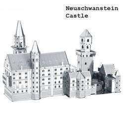 Металлический 3D пазл, маленькая модель 'Замка Нойшванштайн', Neuschwanstein Castle 3D Puzzle