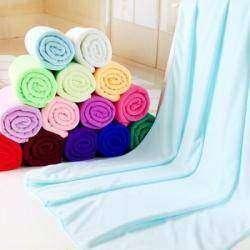 Полотенце из микрофибры и маленькие полотенца из хлопка