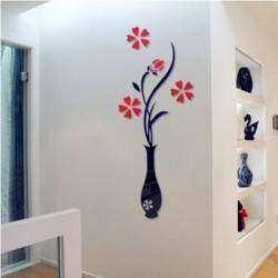 3d декор-стикер акриловая ваза с цветами
