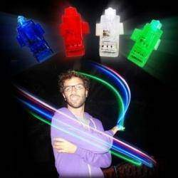 LED Finger Light для веселого времяпровождения или для Фризлайта (Freezelight), 4 pcs Multi-Color LED Party Light Finger Laser Beam Torch Ring