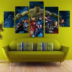 Обзор картин с изображением супер героев для детской комнаты.