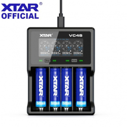 Обзор зарядки XTAR VC4S - питание от QC3.0, тестирование разрядом и работа с 20 700/21 700