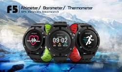 DT №1 F5 Смарт-часы с GPS барометром термометром и монитором сердечного ритма со скидкой всего за 44$