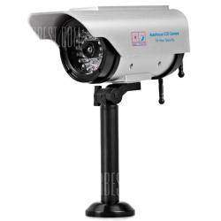Бутафорская камера видеонаблюдения, с солнечной батареей на двух элементах ААА