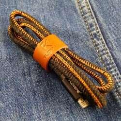 MicroUSB кабель FLOVEME в джинсовой оплетке
