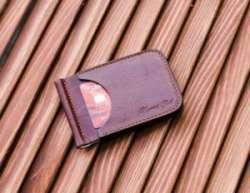 Кожаный зажим для денег ручной работы 'Four' от Upward Path