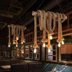 Винтажный светильник из 'Старинных веревок'