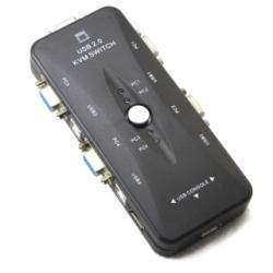 KVM-переключатель 3 портов USB 2.0 и 1 VGA на 4 устройства