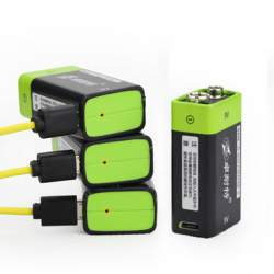 Литиевый аккумулятор 9V 400mAh с USB-входом для зарядки