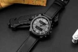 Кварцевые мужские часы Geekthink - стрелки и дисплей
