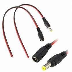 Набор кабелей с круглыми разъемами под LED ленты и блоки питания