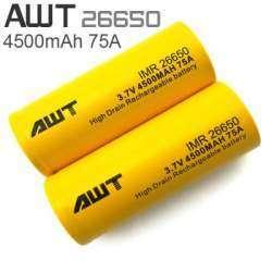 Обзор и тестирование высокотоковых аккумуляторов 26650 AWT 4500mAh 75A - желтые