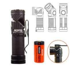 Налобный фонарь с поворотной головой ROFIS R1 CREE XM - L2 U2/16340/USB зарядка