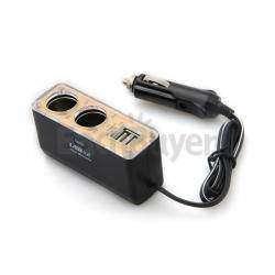 Автомобильный разветвитель питания: 2 гнезда прикуривателя + 2 USB с заявленным током 3,1А