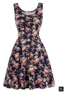 Синтетическое платье в стиле 50-60-тых и а-ля натурель