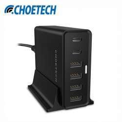 Зарядка CHOETECH TC42C - 4 USB + 2 type-C. Умеет больше заявленного