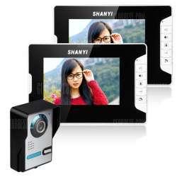 Видеодомофон SY813FА12 с двумя видео-панелями