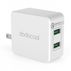 Зарядное устройство dodocool DA87 36W Quick Charge 3.0 2-Port USB