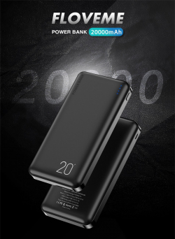 Портативное зарядное устройство (Power Bank) Floveme с батареей 20000 мА·ч