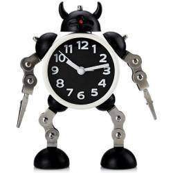 Stylish Creative Round Shaped Robot Desktop Movable Alarm Clock with Flashing (Часы с будильником)
