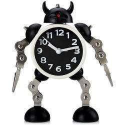 Stylish Creative Round Shaped Robot Desktop Movable Alarm Clock with Flashing (Часы с будильником)