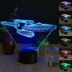 Настольная лампа для декора, 3D звездный крейсер USS Enterprise