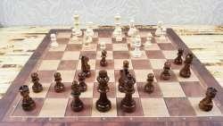 Классические настольные игры с деревянными фигурками: шахматы, шашки, нарды