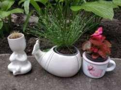 Керамические вазы-горшки под комнатные растения