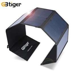 Крупная солнечная панель GBtiger 40W (5V 1.5A + DC 19V 1.5A)