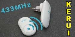 Беспроводный дверной звонок Kerui M525: кнопка вызова без батареек