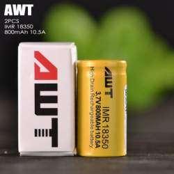 Аккумуляторы 18350 от AWT, 800mAh и 10,5 А - так ли это, проверим