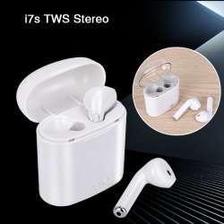 Неплохие наушники I7S TWS с увеличенным аккумулятором за 10.21$