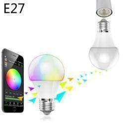 Умная и многоцветная Bluetooth LED лампочка E27 Magic Blue