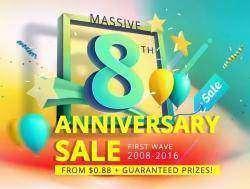 Everbuying.net - 8 лет, распродажи, купоны и подарки!!!