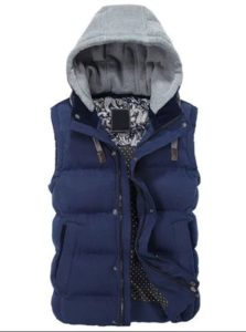 Теплая жилетка с капюшоном - еще деталей заказа на шмоточном магазине Rosegal