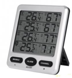 Термометр-гигрометр с тремя датчиками плюс база