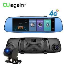 Cuagain Cu6 DVR 8 – накладное автомобильное смарт-зеркало с GPS, видеорегистратором, 4G Bluetooth и Wi-Fi.