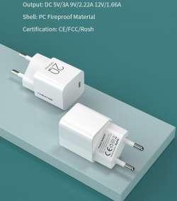 Миниатюрное зарядное устройство Cabletime PD 20 Вт